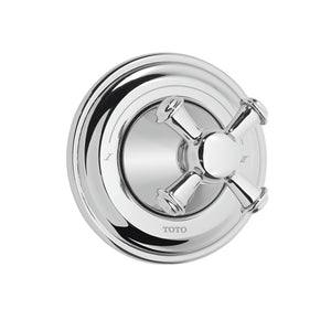 TOTO Vivian Cross Handle Three-Way Diverter Trim with Off in Polished Chrome, SKU: TS220X#CP