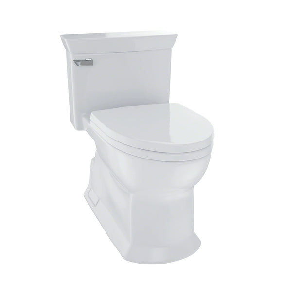 TOTO Eco Soiree One Piece Elongated 1.28 GPF Skirted Toilet, Colonial White, SKU: MS964214CEFG#11