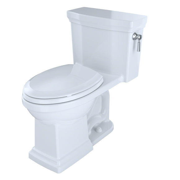 TOTO Promenade II 1-Piece 1.28 GPF Toilet and Right-Hand Trip Lever, Cotton White, SKU: MS814224CEFRG#01