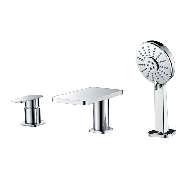 ALFI Brand AB2879-PC Polished Chrome Deck Mounted Tub Filler with Hand Held Showerhead