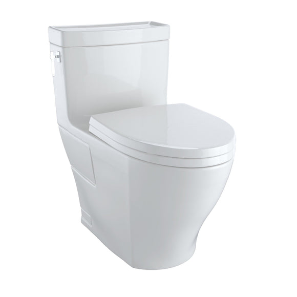 TOTO Aimes WASHLET+ One-Piece Elongated 1.28 GPF Skirted Toilet, Colonial White, SKU: MS626124CEFG#11