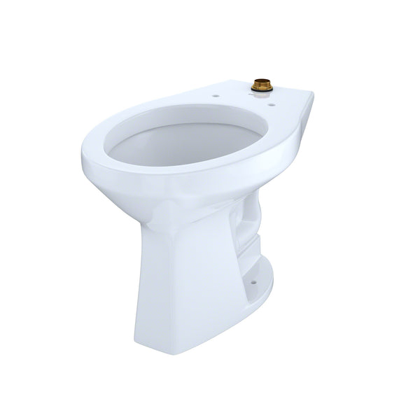 TOTO 1.0 GPF Floor-Mounted Flushometer ADA Toilet Bowl with Top Spud, White, SKU: CT705ULN#01