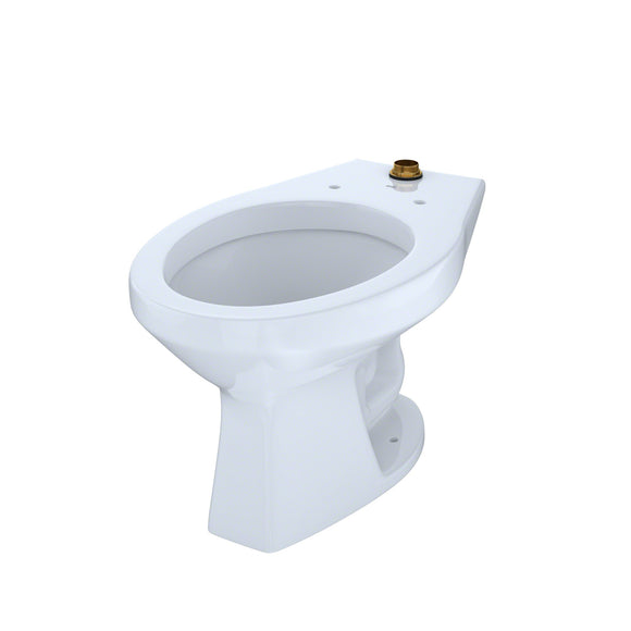 TOTO 1.0 GPF Floor-Mounted Flushometer Toilet Bowl with Top Spud, Cotton White, SKU: CT705UN#01