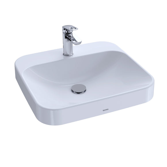 "TOTO Arvina 20"" Vessel Bathroom Sink for Single Hole Faucets, Cotton White, SKU: LT415G#01"