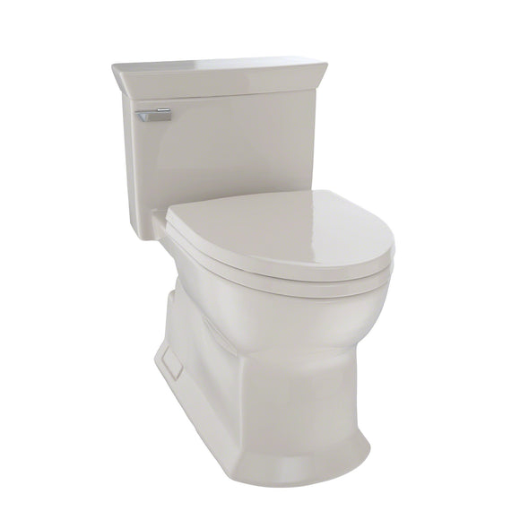TOTO Eco Soiree One Piece Elongated 1.28 GPF Skirted Toilet, Bone, SKU: MS964214CEFG#03