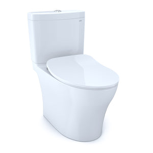 TOTO Aquia IV Dual Flush Toilet and SoftClose Seat, WASHLET+ Ready, Cotton White, SKU: MS446234CUMG#01