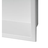 ALFI Brand 24 x 12 White Matte Stainless Steel Horizontal Single Shelf Bath Shower Niche