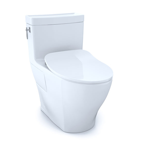 TOTO Aimes One-Piece Elongated 1.28 GPF Toilet with CeFiONtect and SoftClose Seat