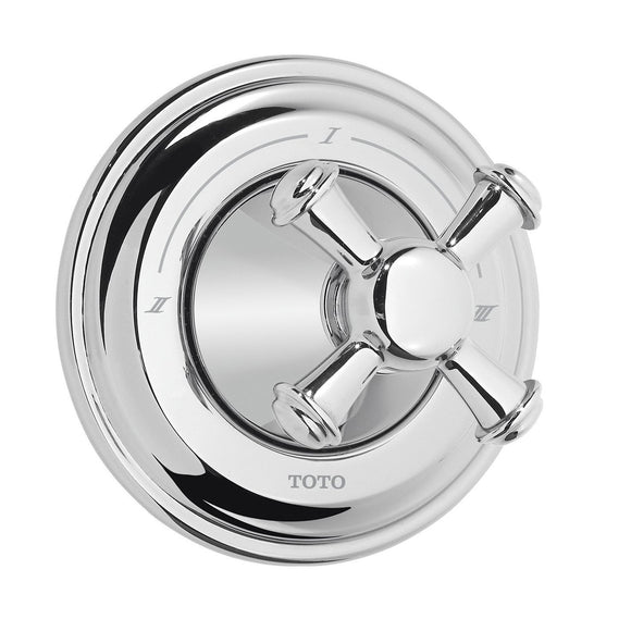TOTO Vivian Cross Handle Three-Way Diverter Trim in Polished Chrome, SKU: TS220XW#CP