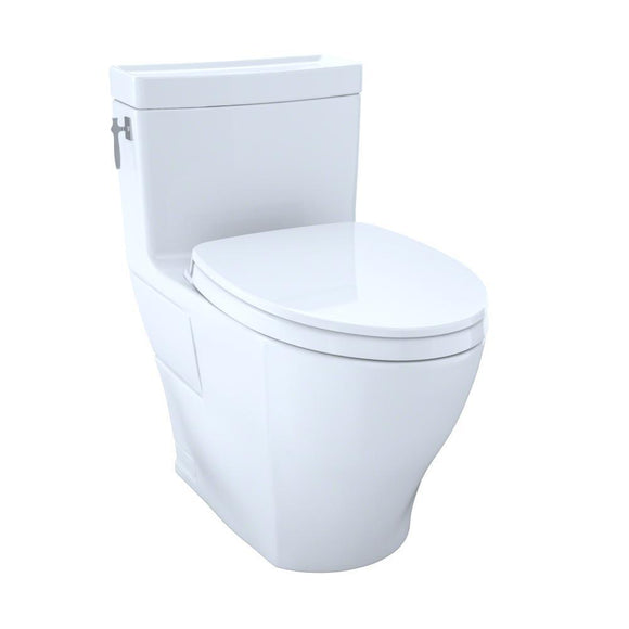 TOTO Aimes WASHLET+ One-Piece Elongated 1.28 GPF Skirted Toilet, Cotton White, SKU: MS626124CEFG#01
