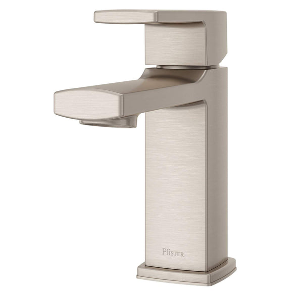 Pfister LG42-DAPK Deckard Single Control Bathroom Faucet with Push & Seal - Brushed Nickel