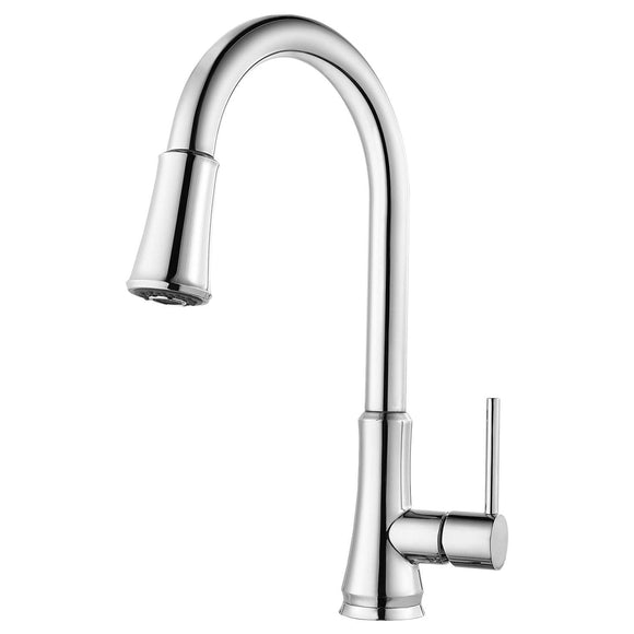 Pfister G529-PF2C Pfirst Series Pull-Down Single Handle Kitchen Faucet - Polished Chrome