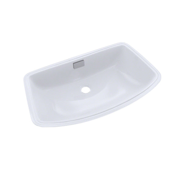 TOTO Soiree Arched Front Rectangular Undermount Bathroom Sink, Cotton White, SKU: LT967#01