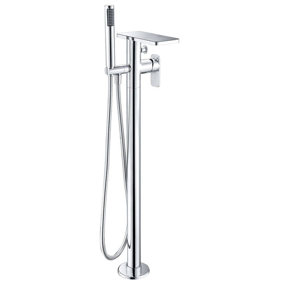 ALFI Brand AB2875-PC Polished Chrome Free Standing Floor Mounted Bath Tub Filler