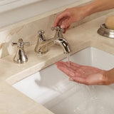 TOTO Vivian 2 Cross Handle Widespread 1.5 GPM Bathroom Faucet, Polished Nickel, SKU: TL220DD#PN