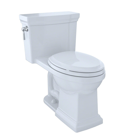 TOTO Promenade II One-Piece Elongated 1.28 GPF Toilet, Cotton White, SKU: MS814224CEFG#01