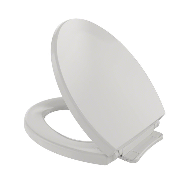 TOTO SoftClose Non Slamming, Slow Close Round Toilet Seat and Lid, Colonial White, SKU: SS113#11