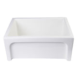 "ALFI AB2418ARCH-B 24"" Biscuit Arched Apron Wall Fireclay Single Bowl Farm Sink"