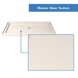 "DreamLine DLT-1132420-22 SlimLine 32""D x 42""W x 2 3/4""H Center Drain Single Threshold Shower Base in Biscuit"
