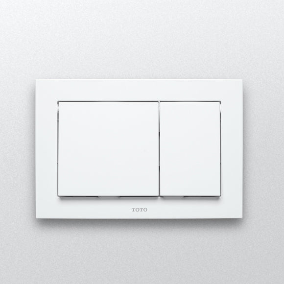 TOTO Push Plate - Rectangle White Plastic for in Wall Tank System, SKU: YT800#WH