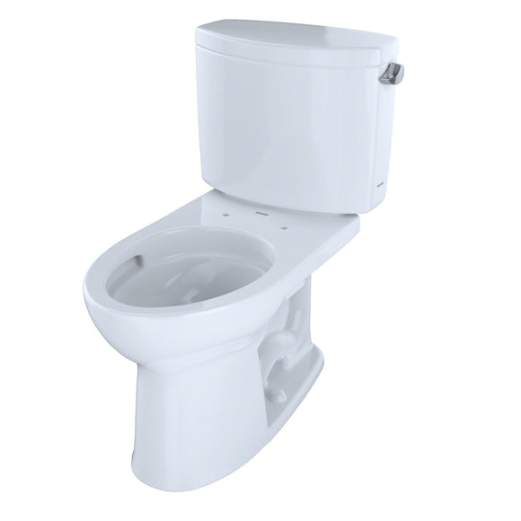 TOTO Drake II 2-Piece 1.28 GPF Toilet and Right-Hand Trip Lever, Cotton White, SKU: CST454CEFRG#01