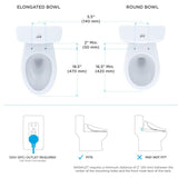 TOTO WASHLET S550E Bidet Toilet Seat with eWater+ & Auto Open/Close Classic Lid, SKU: SW3054#01