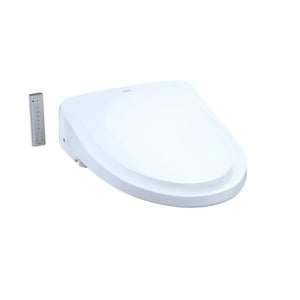 TOTO WASHLET S500E Bidet Toilet Seat with eWater+ and Classic Lid, Cotton White, SKU: SW3044#01