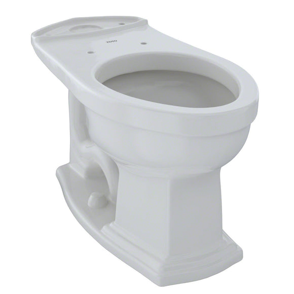TOTO Eco Clayton and Clayton Elongated Toilet Bowl, Colonial White, SKU: C784EF#11