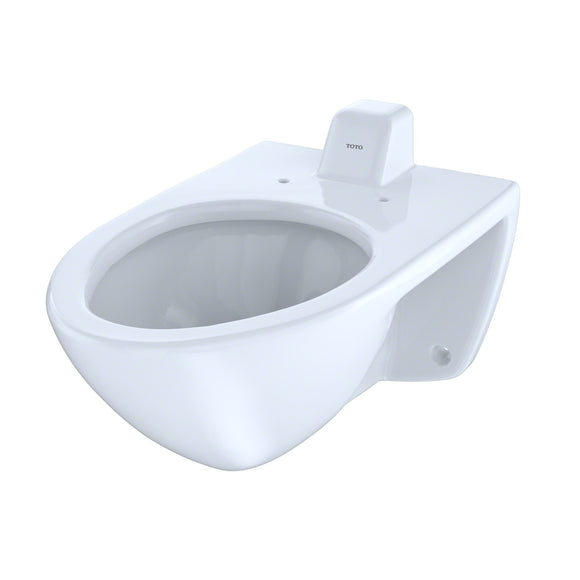 TOTO 1.0 GPF Wall-Mounted Flushometer Toilet Bowl with Back Spud and CeFiONtect, SKU: CT708UVG#01