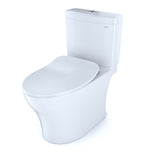 TOTO Aquia IV Dual Flush Toilet & SoftClose Seat, WASHLET+ Ready, Cotton White, SKU: MS446234CEMFG#01