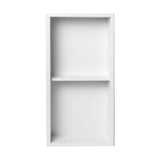 ALFI Brand 12 x 24 White Matte Stainless Steel Vertical Double Shelf Bath Shower Niche