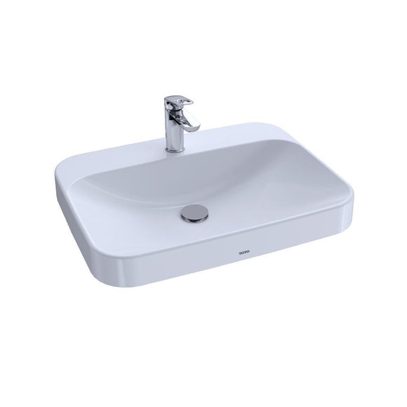 "TOTO Arvina 23"" Vessel Bathroom Sink for Single Hole Faucets, Cotton White, SKU: LT416G#01"