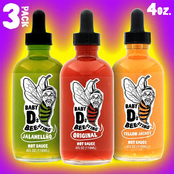 Baby D's Bee Sting 3 Pack Hot Sauce Bundle - 4 oz.