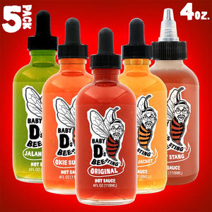 Baby D's Bee Sting Hot Sauce 5 Pack - 4 oz.