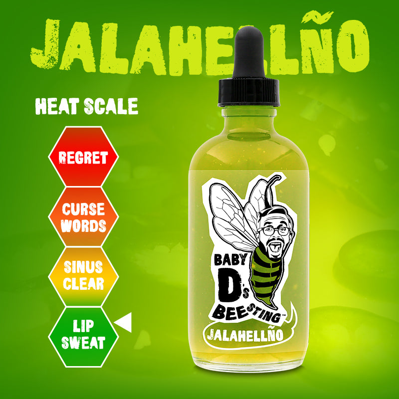 Jalahellno Hot Sauce Baby D's Bee Sting Verde Sauce