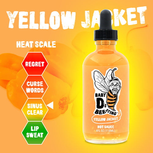 Yellow Jacket Hot Sauce Baby D's Bee Sting - 4 oz.