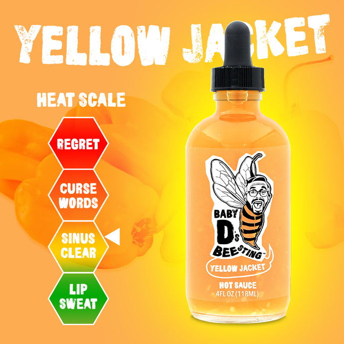 Yellow Jacket Hot Sauce Baby D's Bee Sting