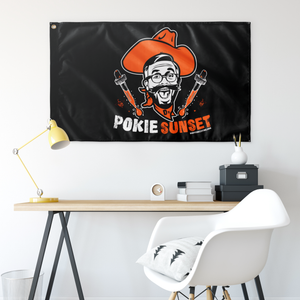 "Pokie Sunset Flag - 36""x60"""