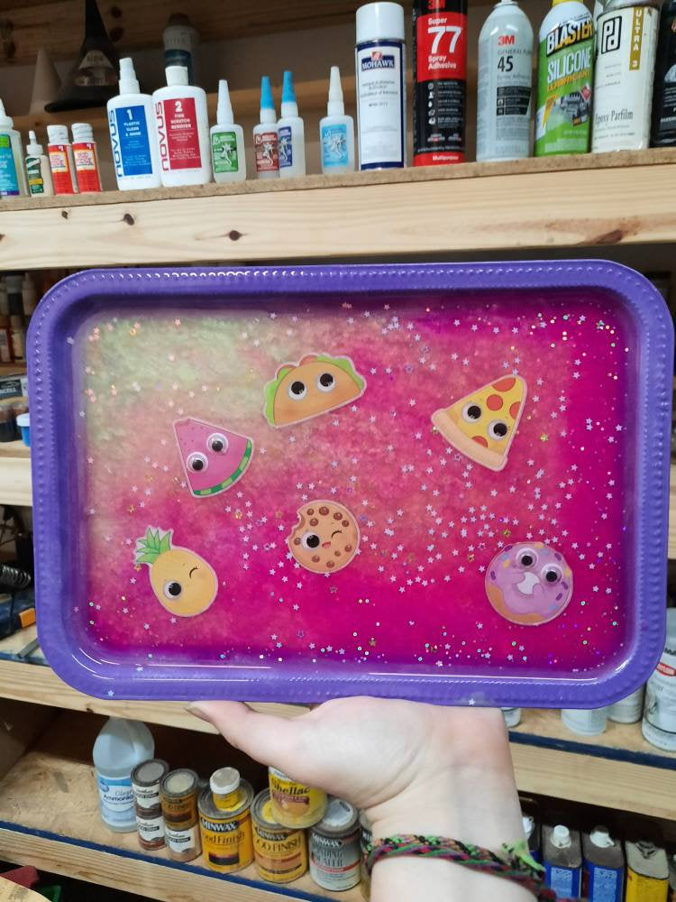 Snack Time Resin Tray
