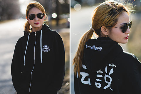 Unisex Unknown 'Legend' zip-up hoodie