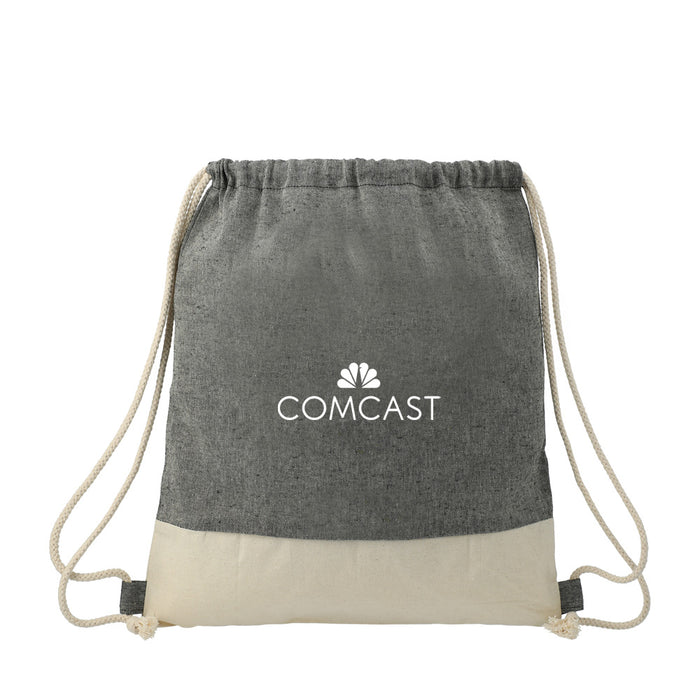 ECO Split Recycled Cotton Drawstring Bag