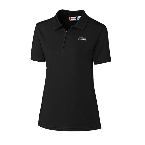 Ladies Malmo Snag Proof Zip Polo