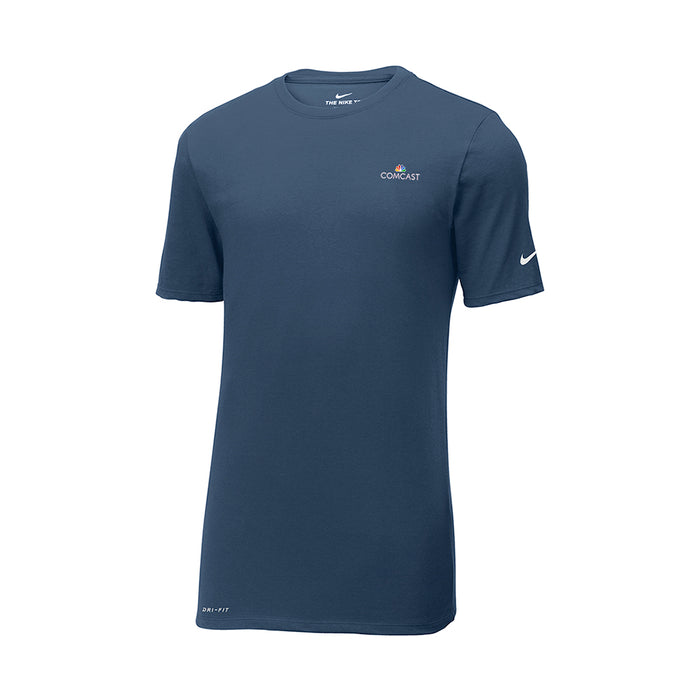 Nike Dri-Fit Cotton/Poly T-Shirt in College Navy
