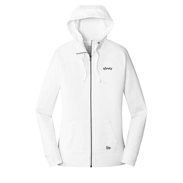 Ladies New Era Sueded Cotton Full-Zip Hoodie