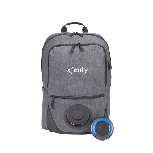"15"" Computer Backpack with Blare Bluetooth Speaker"