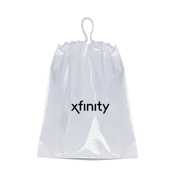 "12"" X 16"" X 4"" Bag Plastic w/Cotton Draw String"