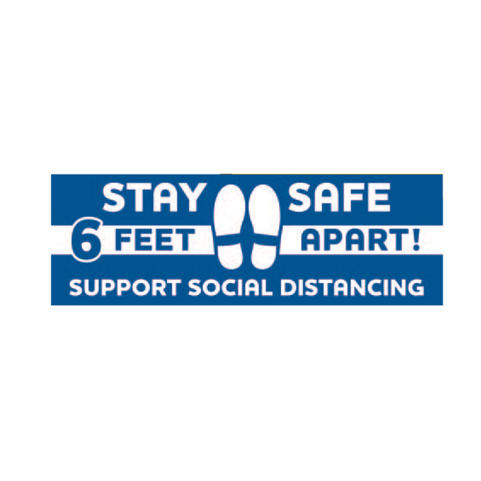 STAY SAFE Rectangular Floor Graphics