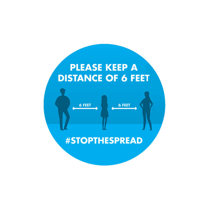 #STOPTHESPREAD Circular Floor Graphics
