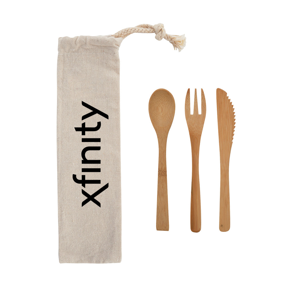 Bamboo Utensil Travel Set