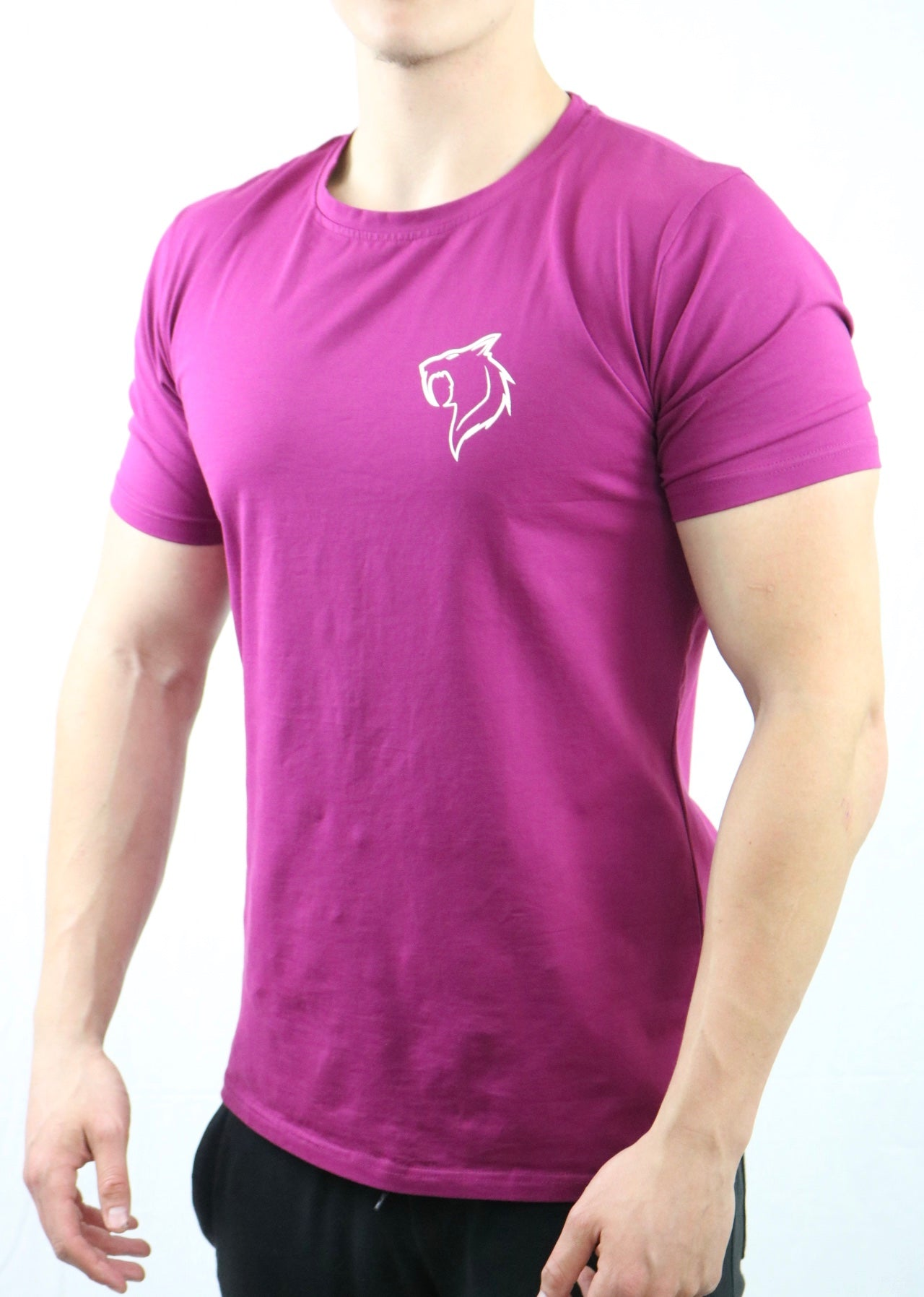 Badge Performance Tee- Plum